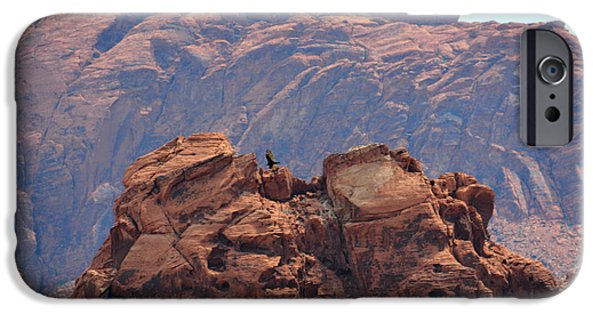 Red Rock Tapestries - Textiles iPhone Cases - Red Boulders I iPhone Case by Edna Weber