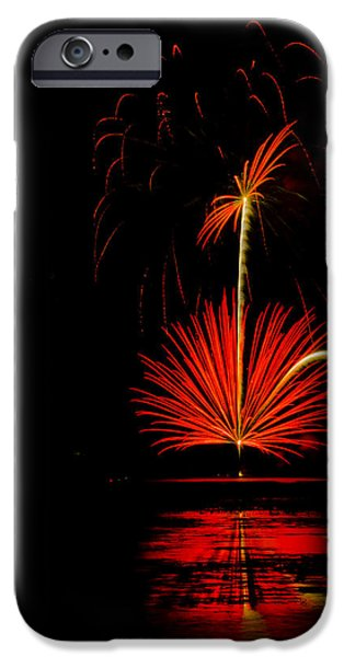 4th July Photographs iPhone Cases - Red Burst Flower  iPhone Case by Dick Hudson