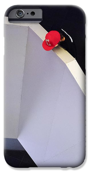 Balcony iPhone Cases - Red Cap Moment iPhone Case by Keith Armstrong