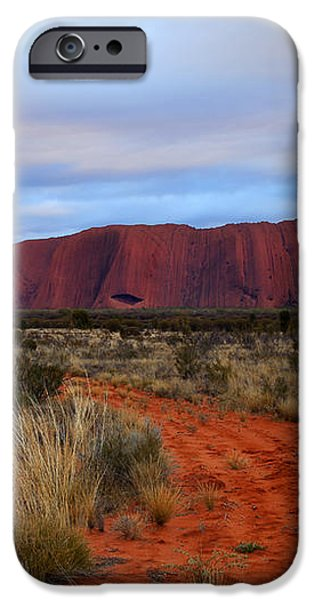 Red Center Dawn iPhone Case by Mike  Dawson