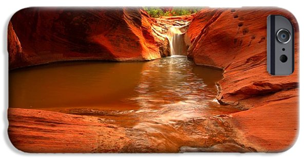 Red Cliffs iPhone Cases - Red Cliffs Oasis iPhone Case by Adam Jewell