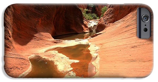 Red Cliffs iPhone Cases - Red Cliffs Pools iPhone Case by Adam Jewell
