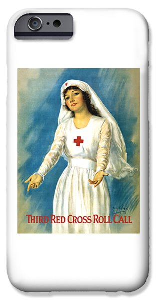 Ww1 iPhone Cases - Red Cross Nurse - WW1 iPhone Case by War Is Hell Store