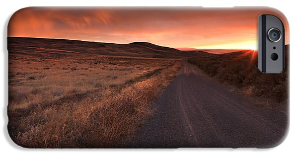 Country iPhone Cases - Red Dawn iPhone Case by Mike  Dawson
