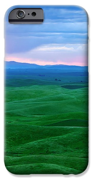 Red Dawn over the Palouse iPhone Case by Mike  Dawson