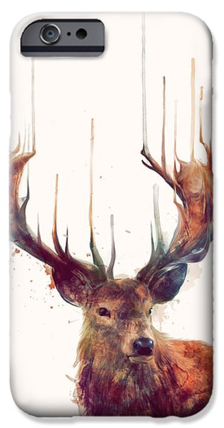 Fauna iPhone Cases - Red Deer iPhone Case by Amy Hamilton