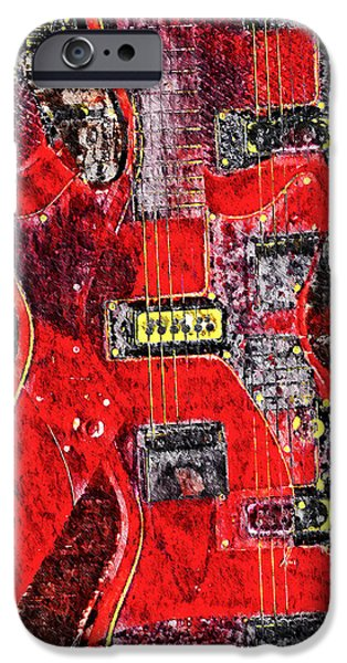 Jet Star iPhone Cases - Red Devil iPhone Case by Bill Cannon