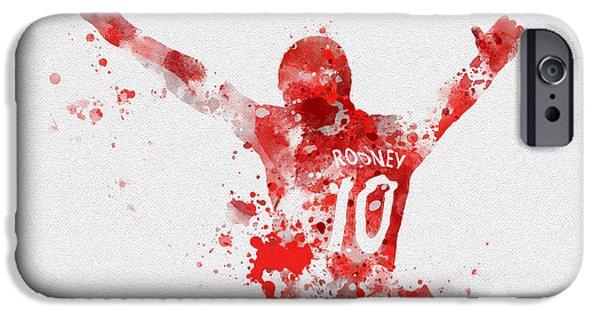Celebration Mixed Media iPhone Cases - Red Devil iPhone Case by Rebecca Jenkins