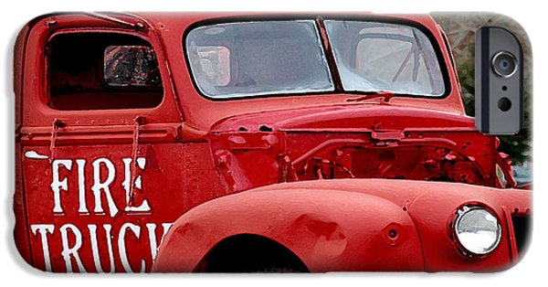 Michael Thomas iPhone Cases - Red Fire Truck iPhone Case by Michael Thomas