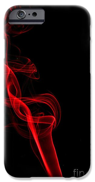 Abstract Digital Photographs iPhone Cases - Red Five iPhone Case by Steve Purnell