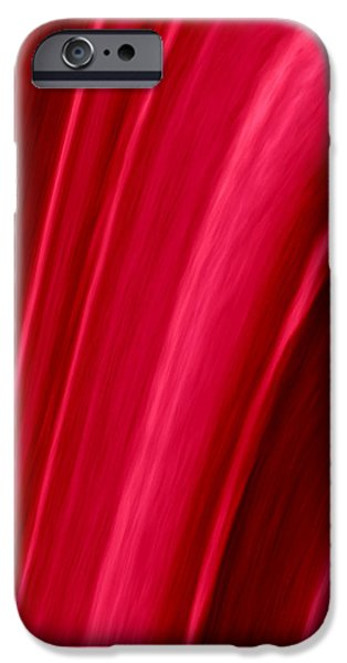 Abstract Digital Tapestries - Textiles iPhone Cases - Red Folds iPhone Case by Suzi Freeman