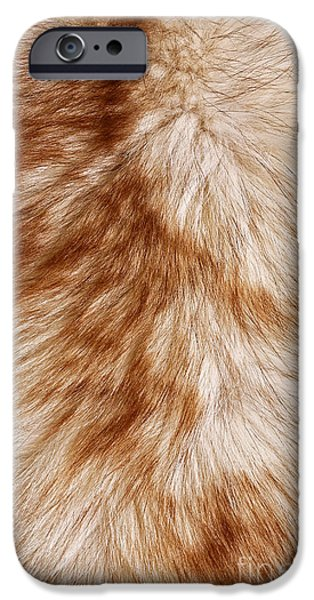Sheets iPhone Cases - Red fox rough fur texture cloth iPhone Case by Artur Mroszczyk