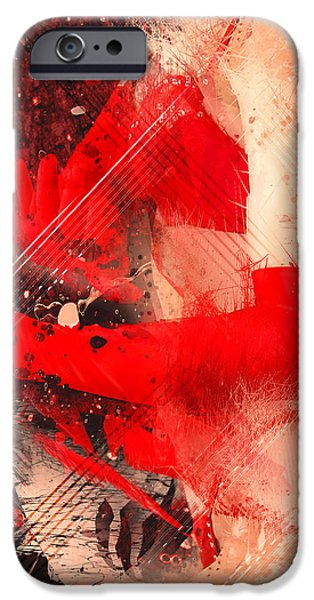 Red Gloves iPhone Case by Svetlana Sewell