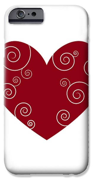 Red Heart iPhone Case by Frank Tschakert
