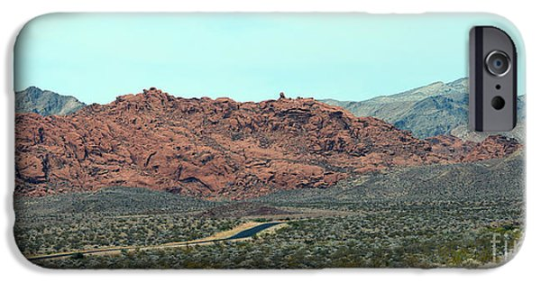Red Rock Tapestries - Textiles iPhone Cases - Red Heat iPhone Case by Edna Weber