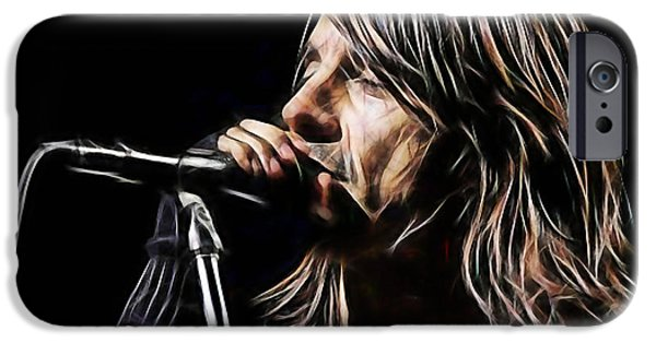 Red Hot Chili Peppers iPhone Cases - Red Hot Chili Peppers Anthony Kiedis iPhone Case by Marvin Blaine