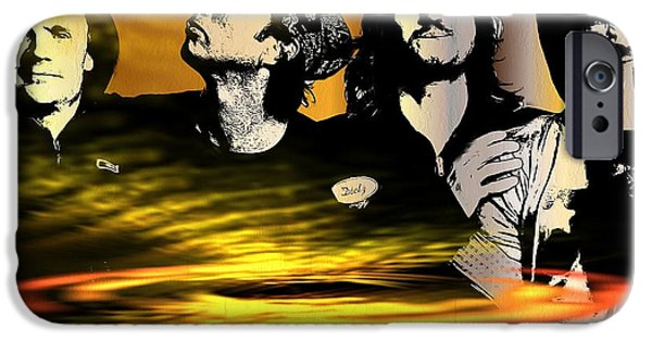 Red Hot Chili Peppers Paintings iPhone Cases - Red Hot Chili Peppers iPhone Case by Daniel Janda
