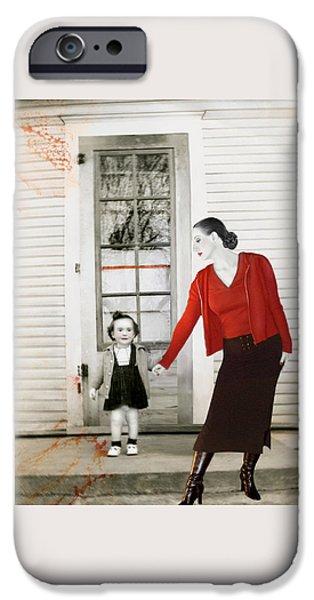 Eerie iPhone Cases - Red Jane - Self Portrait iPhone Case by Jaeda DeWalt