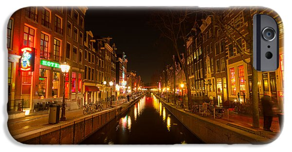 Prostitution Paintings iPhone Cases - Red light district iPhone Case by Vision Fine   Art
