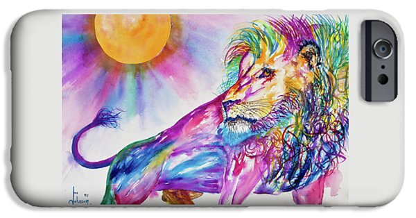 Preditor iPhone Cases - Red Lion iPhone Case by Larry  Johnson