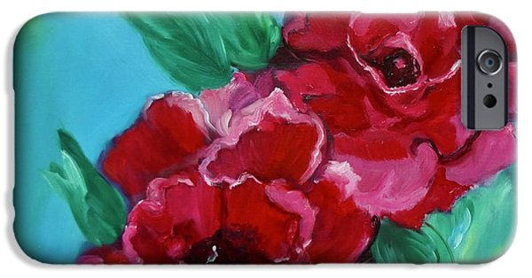 Botanical iPhone Cases - Red Lovelies iPhone Case by Jenny Lee