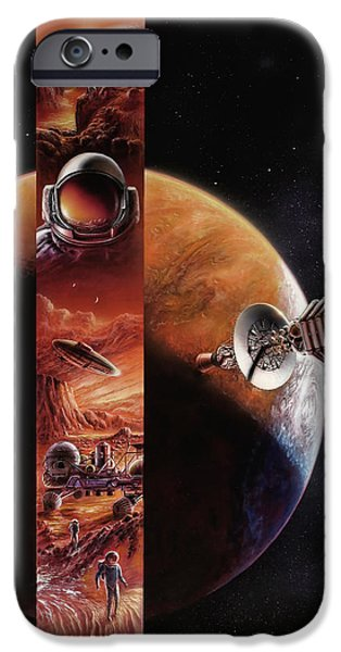 Cover Art iPhone Cases - Red Mars Cover Painting iPhone Case by Don Dixon