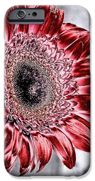 Buy iPhone Cases - Red Metal Flower iPhone Case by Chandra Nyleen