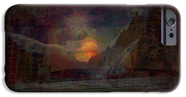 Miracle iPhone Cases - Red Moon iPhone Case by Vincent Messelier