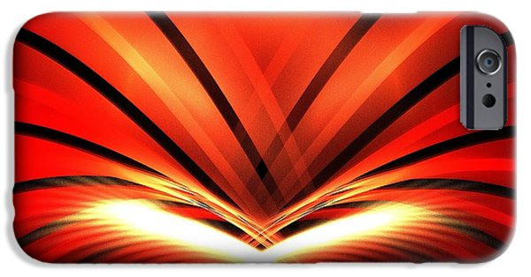 Red Abstract iPhone Cases - Red Mountain iPhone Case by Kim Sy Ok
