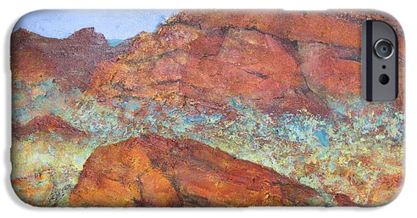 Red Rock iPhone Cases - Red Mountain iPhone Case by Margaret Coxall