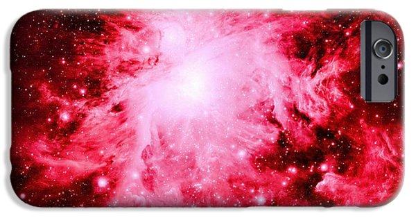 Stellar iPhone Cases - Red Nebula iPhone Case by Johari Smith