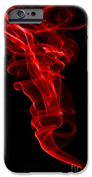 Abstract Digital Photographs iPhone Cases - Red One iPhone Case by Steve Purnell