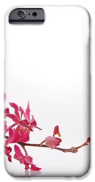 red orchid with towel iPhone Case by ATIKETTA SANGASAENG