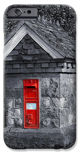 Boxes iPhone Cases - Red Post Box iPhone Case by Simon Kayne