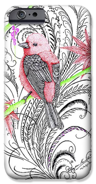 Google Mixed Media iPhone Cases - Red Robin iPhone Case by Dwayne  Hamilton