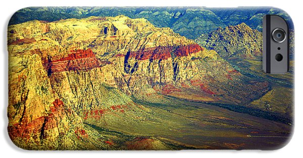 Red Rock iPhone Cases - Red Rock Canyon Poster print iPhone Case by James BO  Insogna