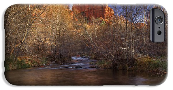 Sedona iPhone Cases - Red Rock Crossing iPhone Case by Photography by Laura Lee