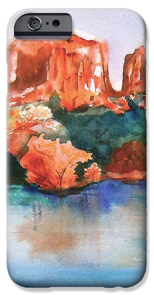 Red Rock Crossing iPhone Case by Sharon Mick