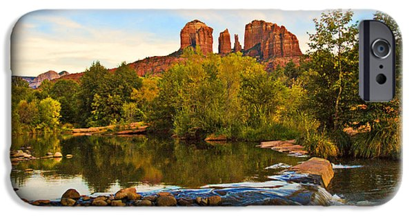 Sedona Photographs iPhone Cases - Red Rock Crossing Three iPhone Case by Paul Basile