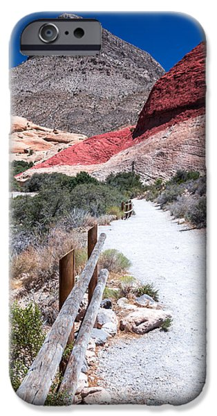 Red Rock iPhone Cases - Red rock iPhone Case by Hoa Nguyen Xuan