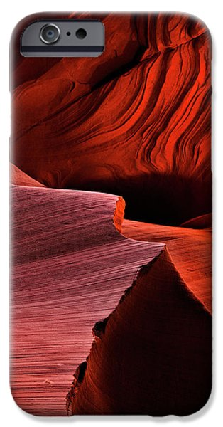 Inferno iPhone Cases - Red Rock Inferno iPhone Case by Mike  Dawson