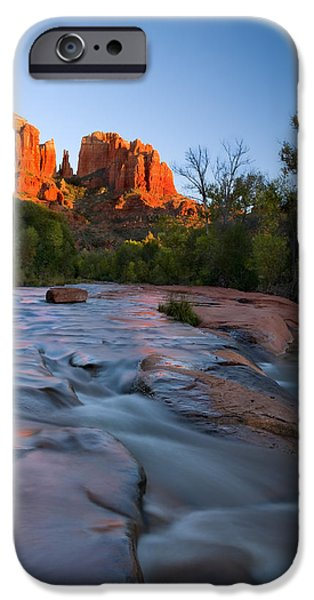Sedona iPhone Cases - Red Rock Sunset iPhone Case by Mike  Dawson
