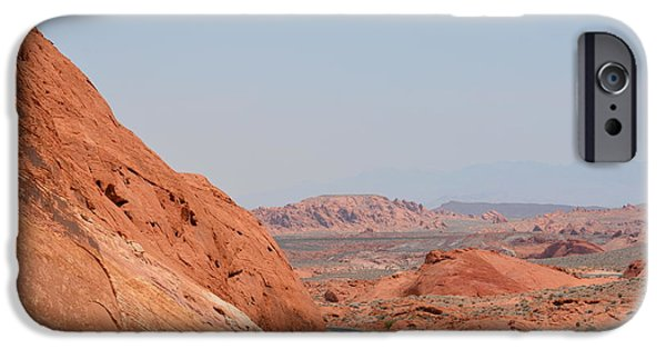 Red Rock Tapestries - Textiles iPhone Cases - Red Rock View iPhone Case by Edna Weber