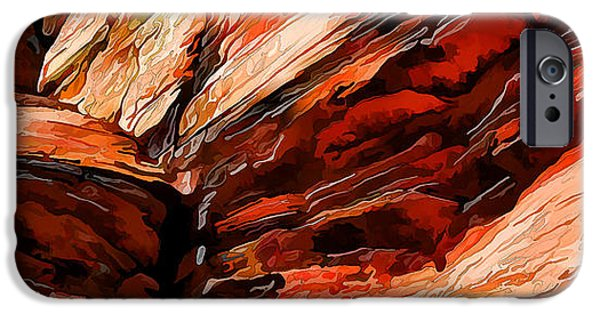 Rust iPhone Cases - Red Rocks at Shamans Dome Abstract 2 iPhone Case by Bill Caldwell -        ABeautifulSky Photography