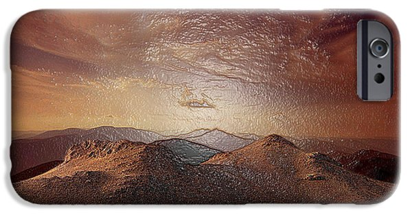 Snowy Night iPhone Cases - Red Rocks iPhone Case by Scott Mendell