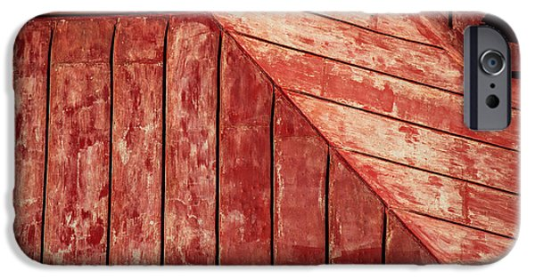Abstract Forms iPhone Cases - Red Roof iPhone Case by Karol  Livote