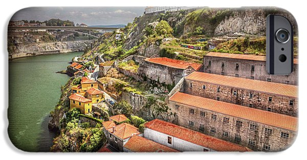 Buildings iPhone Cases - Red Roofs of Porto iPhone Case by Carol Japp