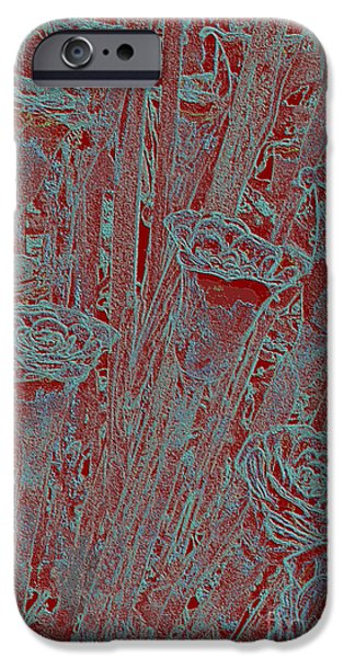 Petals Tapestries - Textiles iPhone Cases - Red Roses iPhone Case by Edna Weber
