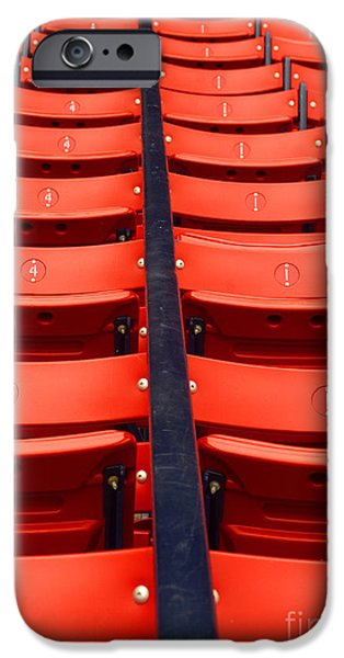 Red Sox iPhone Cases - Red Seats iPhone Case by Ray Konopaske