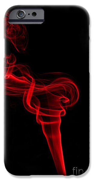 Abstract Digital Photographs iPhone Cases - Red Seven iPhone Case by Steve Purnell